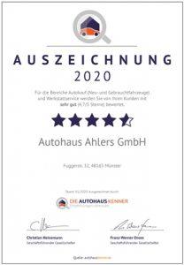Autohaus Ahlers in Münster-Hiltrup – Über Uns – Fahrzeuge & Meisterwerkstatt – 1